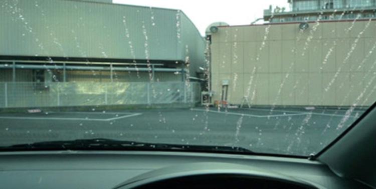 ガラス撥水コート施工後